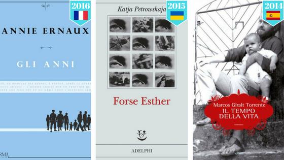 Premio Strega Europeo Vincitori passate edizioni
